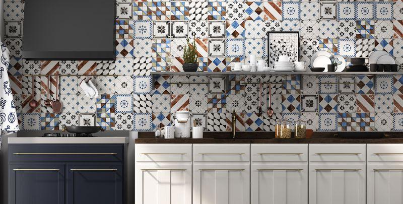 Mix dekorů za kuchyňskou linku Del Conca Sorrentina Corsano