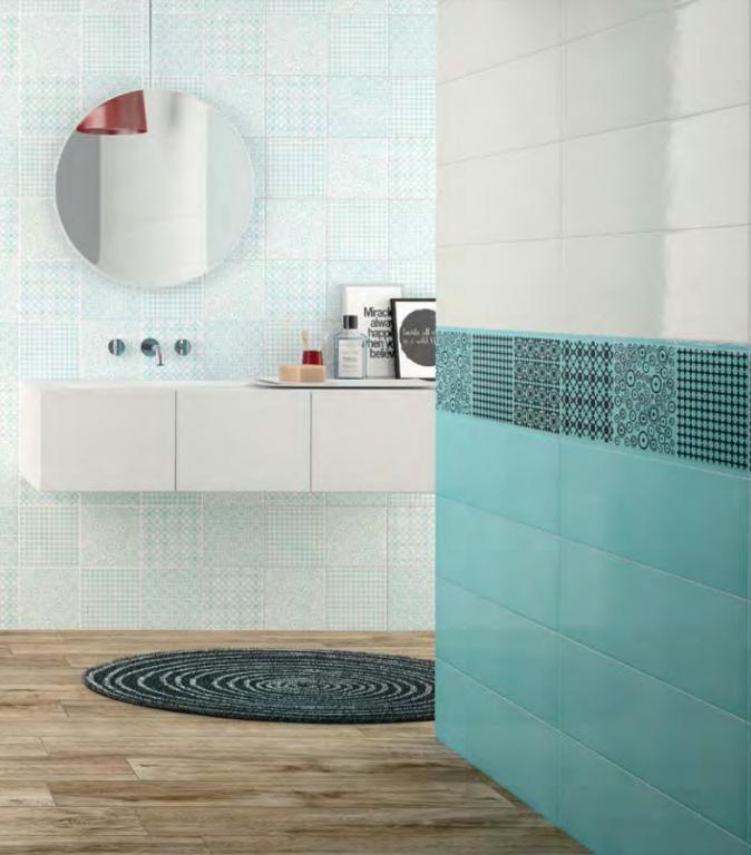 Koupelna na míru Ascot Wonderwall Sky & White