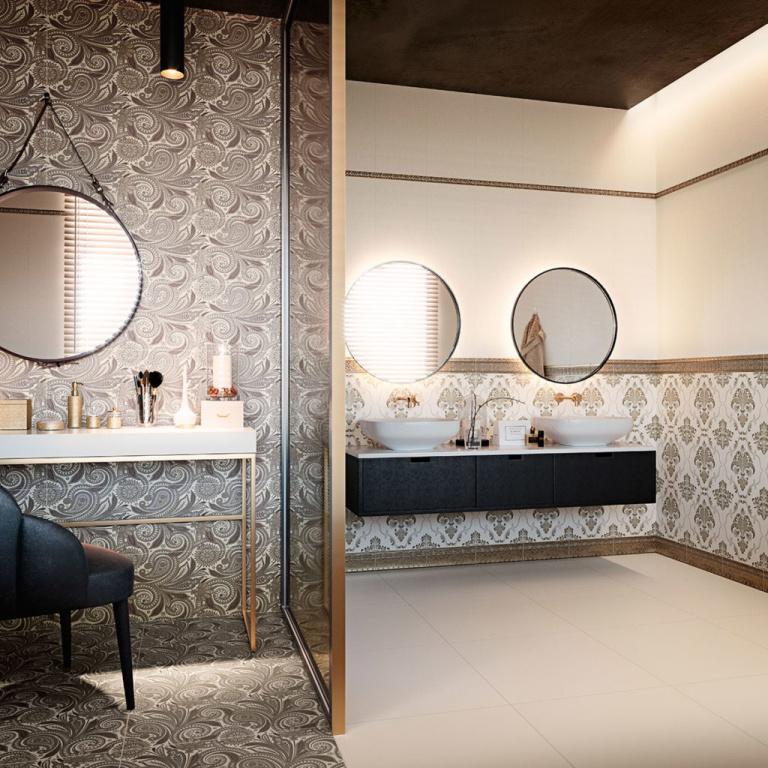 Koupelna jako na zámku Aparici Astoria