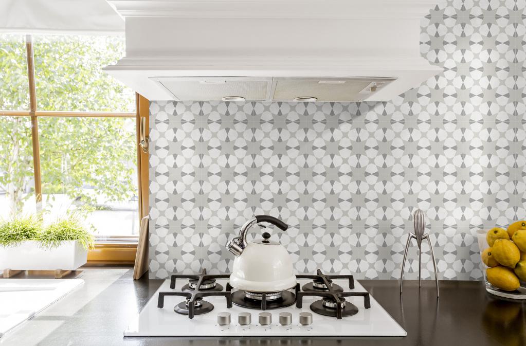 Patchworková dlažba 20x20 s jemnou kresbou vhodná do koupelny i kuchyně Avalon (Del Conca Faetano)