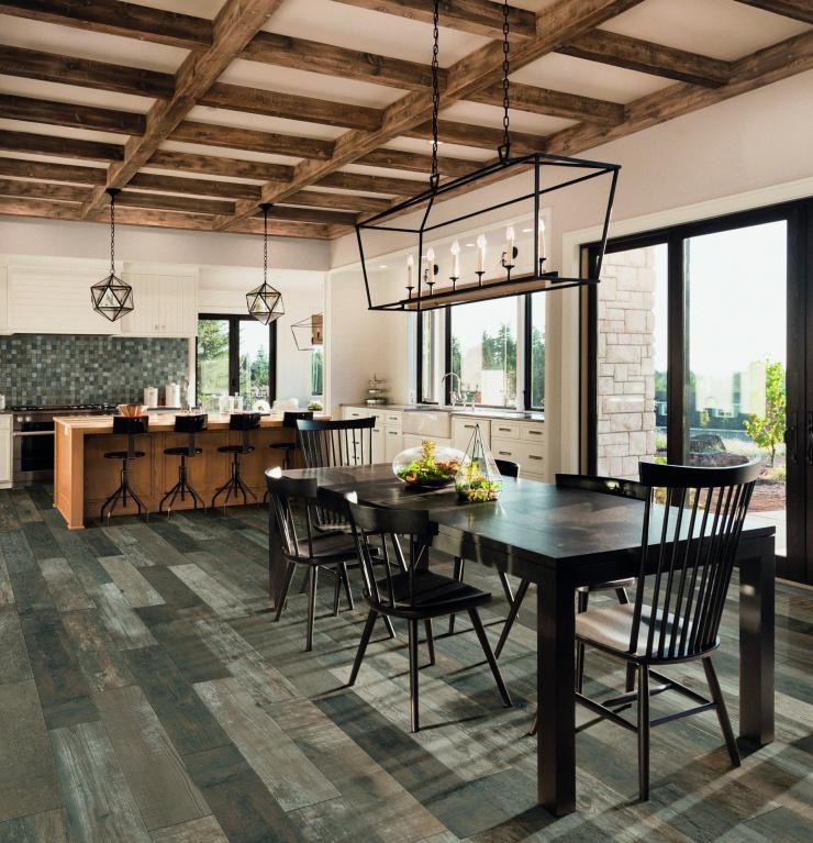 Krásná prkenná podlaha v imitaci dlažby Mariner Fulton Havana