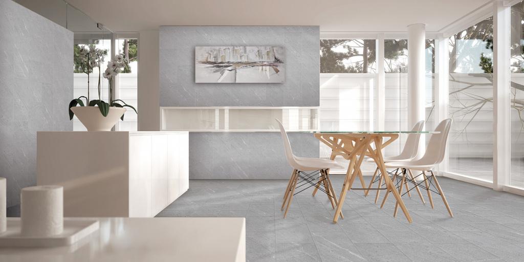 Šedá dlažba interiérová s mramorem od výrobce Cicogres Extreme