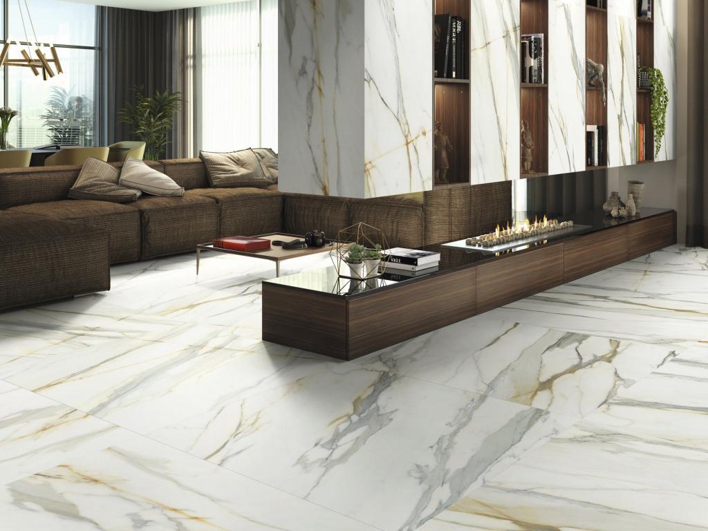 Elegantní mramorová dlažba Ape Calacatta Borghini