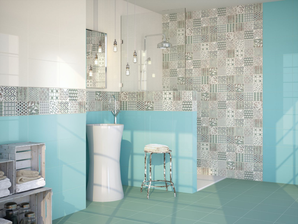 Vzorované obklady do koupelny Ape Duma