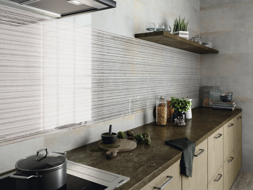 Lesklý obklad na stěnu kuchyně Ape Meteoris