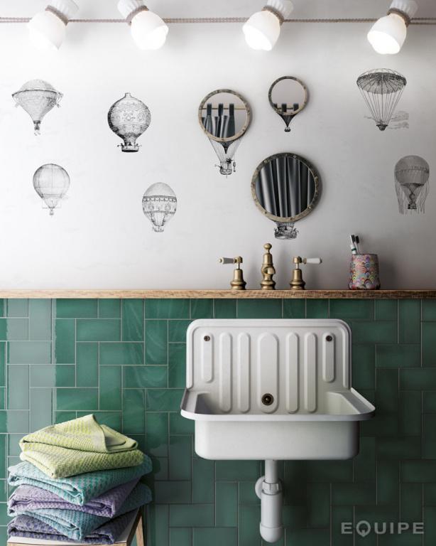 Koupelnové obklady ve stylu vintage Equipe Crackle