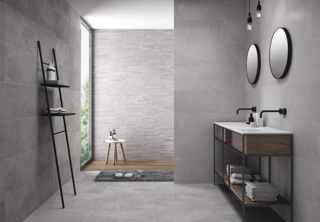 Šedá cementová koupelna Codicer City