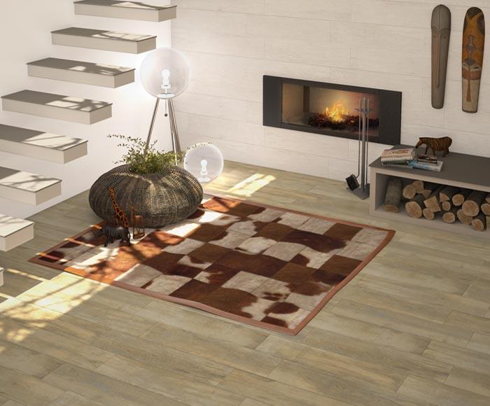 Přírodní teplo domova s dlažbou imitující dřevo Arcana Treewood