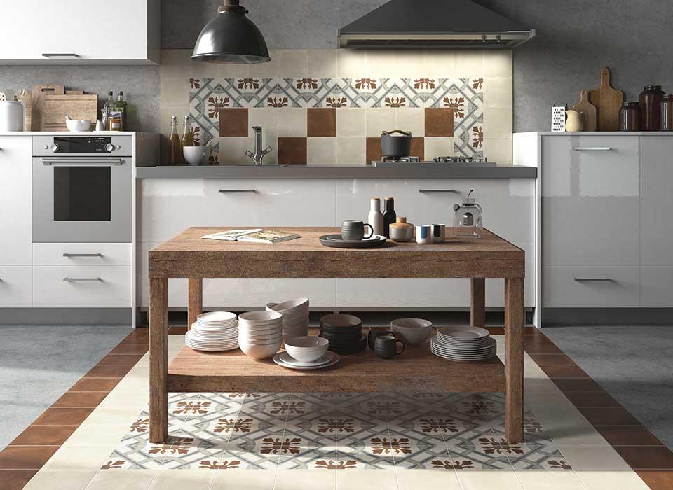 Obklad a dlažba v RETRO stylu do kuchyně od výrobce Elios D_Esign Evo