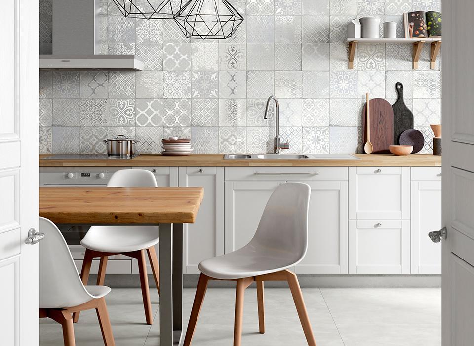 OBKLAD za kuchyňskou linku se vzory Elios Materic