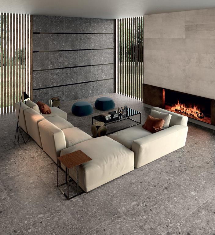 ELEGANTNÍ řada Futura s texturou cementu Ariana Ceramica