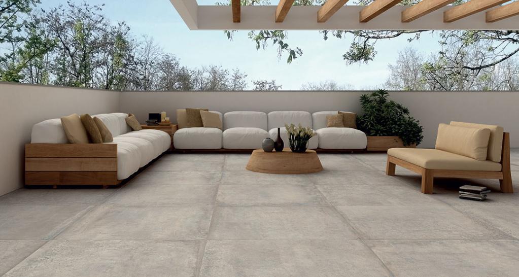 KERAMICKÁ DLAŽBA a imitace betonu Castelvetro Materika 2CM