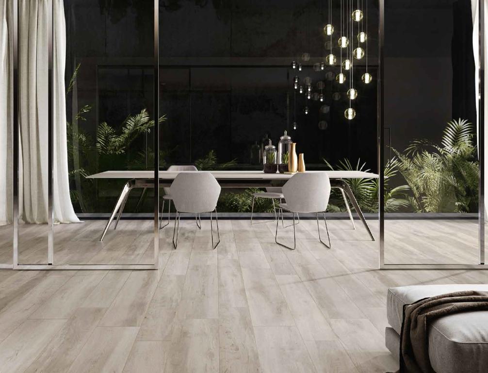 Dlažba jako dřevěná prkna Monocibec Woodtime Abete Bianco