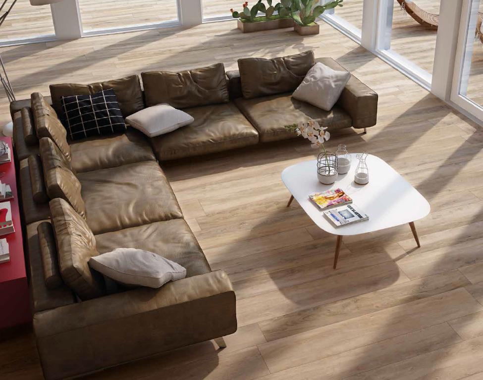 Dlažba v dokonalé imitaci dřeva Monocibec Woodtime Castagno