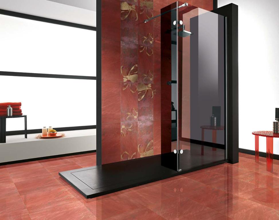 Červená luxusní koupelna Brennero Goldeneye Corallo