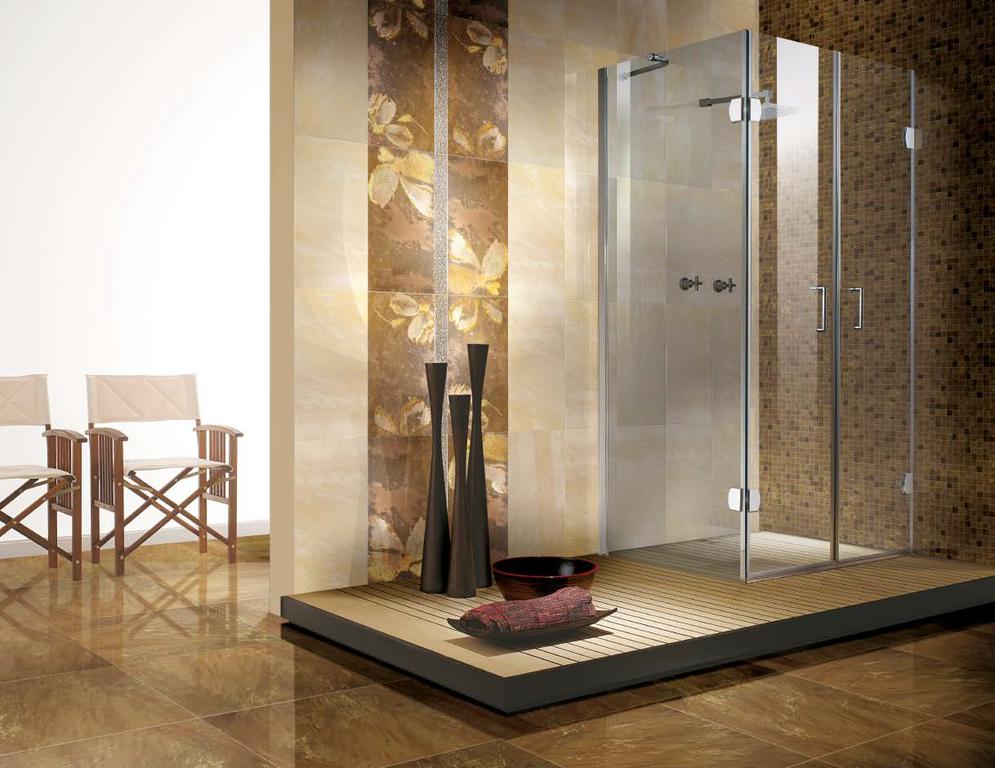 Luxusní koupelna s sprchovým koutem Brennero Goldeneye Visone