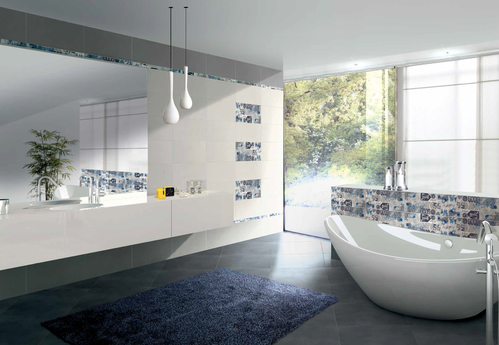 Koupelna s moderními obklady Brennero Suite  Urban Grey