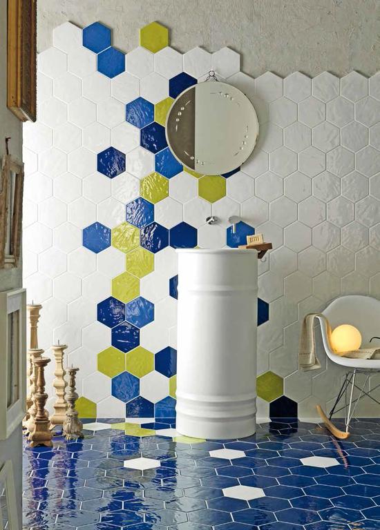 Obklady na zeď šestiúhelník Tonalite Exabright Colors mix