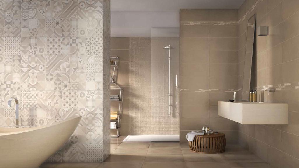 Koupelna s dekory a mozaikou Naxos Argille Rust