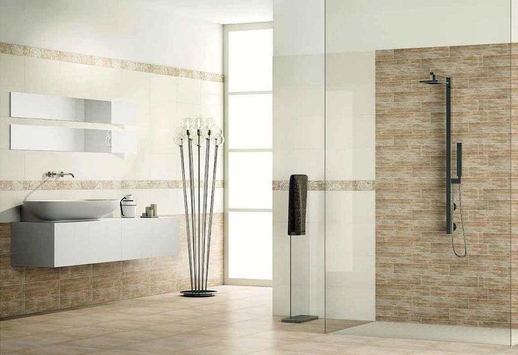 Italské koupelny Naxos Euphoria Bianco Seta & Legno -