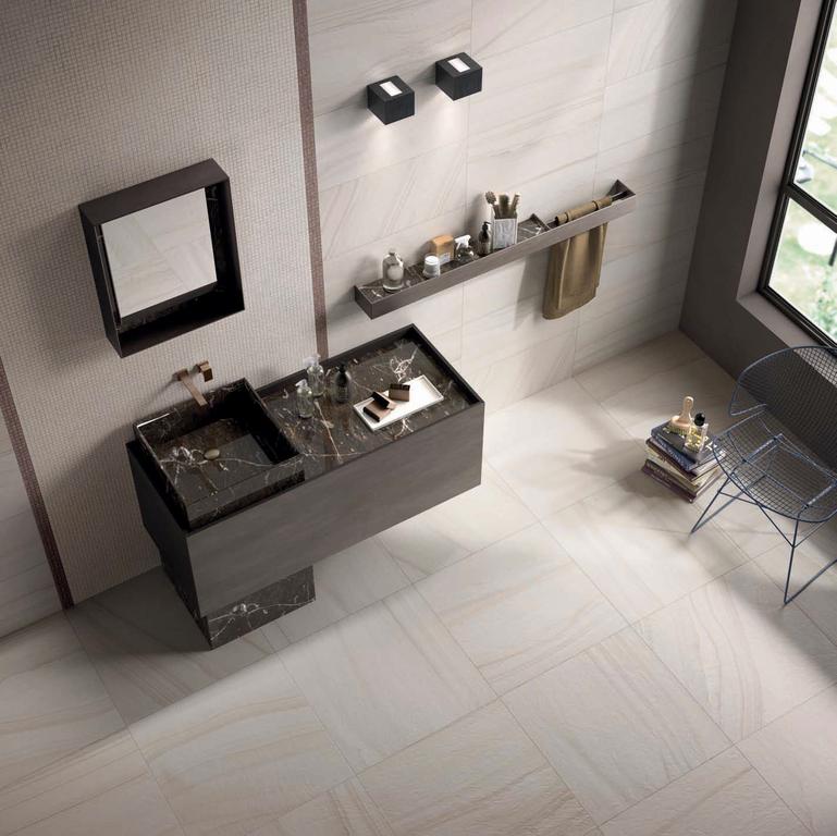 Moderní koupelna s mozaikou ABK Re-Work Single 2 White