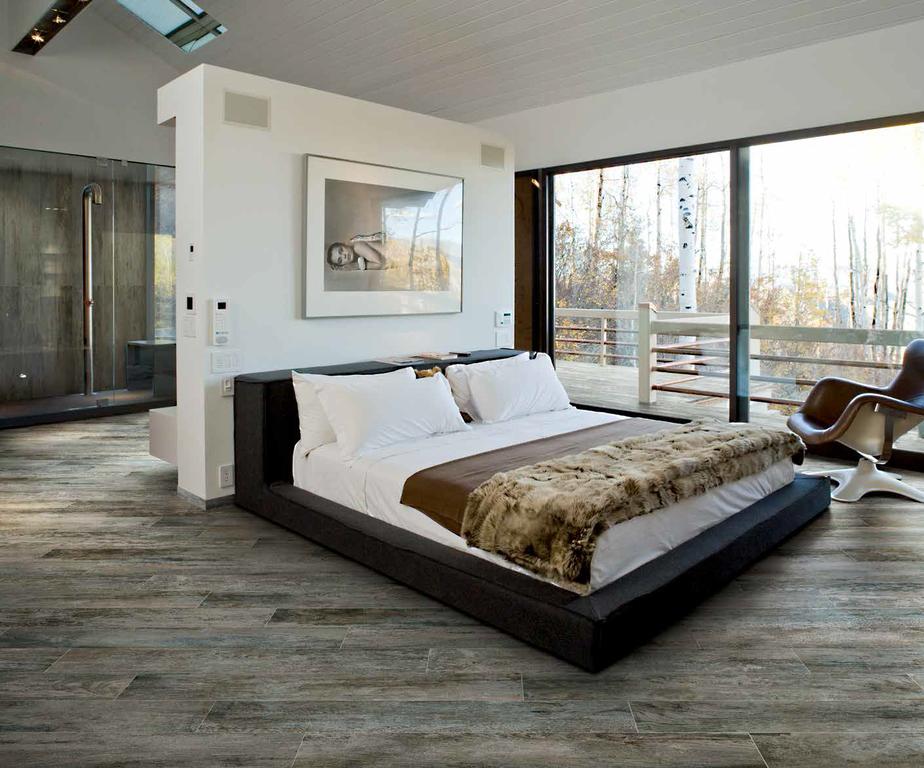 Mrazuvzdorná dlažba imitace dřeva Cerdomus Club Grey