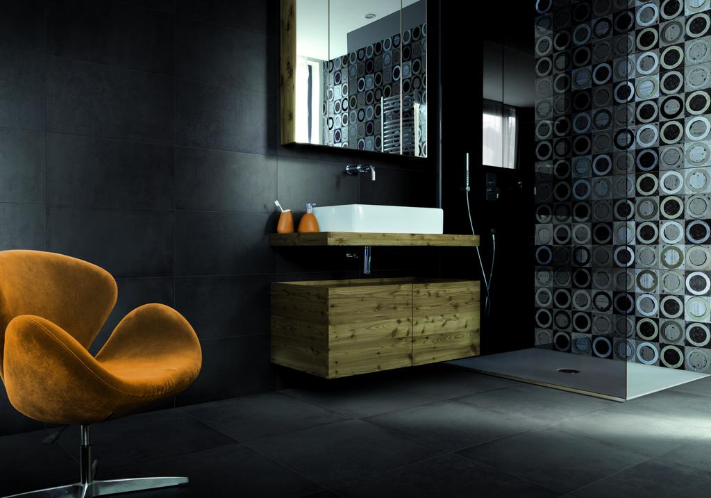 Černá koupelna Cerdomus Chrome Charcoal & Decoro Sphera