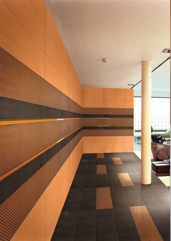 Moderní keramický obklad Settecento F.1 Design Liner, List. Light Orange & Moka