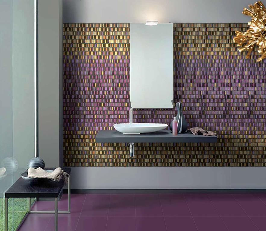 Fialová mozaika Settecento Le Murrine Gold Ambiente realizzato con, Amethyst High & Medium e Low Gold