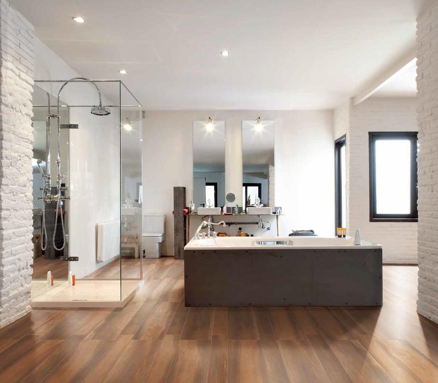 Dřevěná dlažba v koupelně Settecento Naturalia Ciliegio