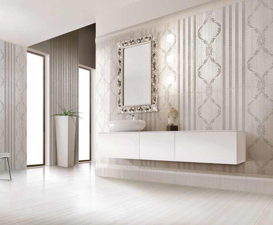 Ornamentální obklad v koupelně Settecento Samarcanda Dec. Kashkai Grey