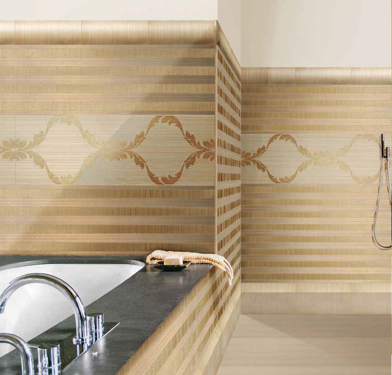 Zlatý dekor v koupelně Settecento Samarcanda Dec. Fonda Moka