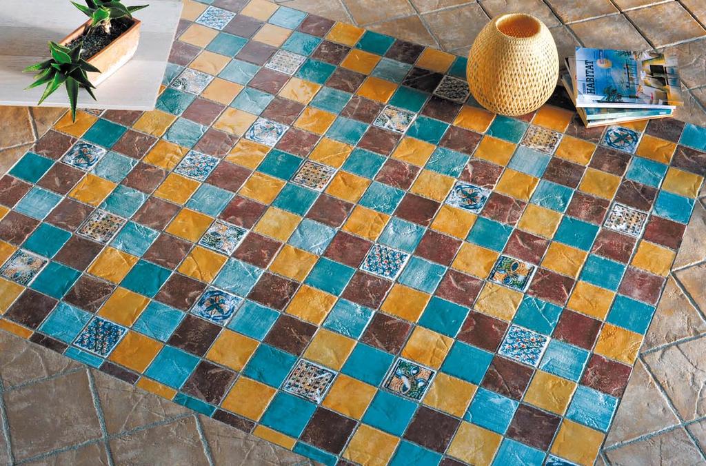 Dlaždice jako maiolika Eco Ceramica Maestri Ceramisti Deruta Da Orvieto & Veneti