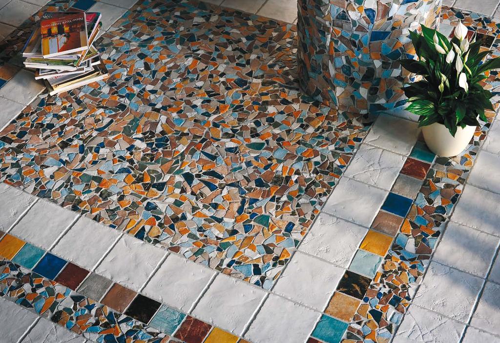 Mozaika jako dlažba Ecoceramica Maestri Ceramisti Color Mix