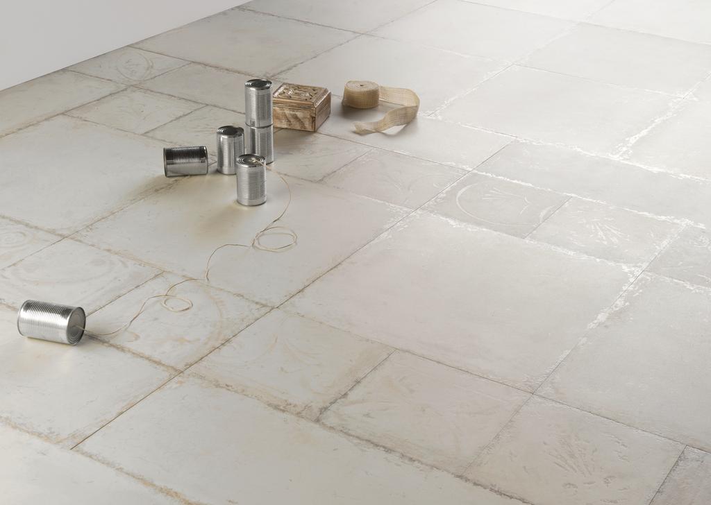 Podlaha do koupelny Eco Ceramica Tin Tiles Patina Metal White