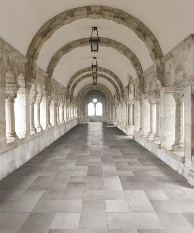 Obdélníková šedá kamená dlažba Serenissima Ducato di Borgogna Cluny
