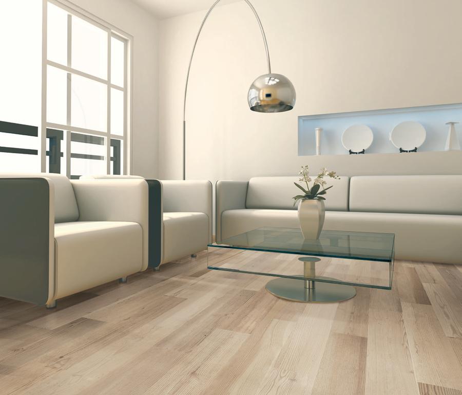Dřevo barvy bílé kávy dlažba Serenissima Nova Planca Robinia Beige