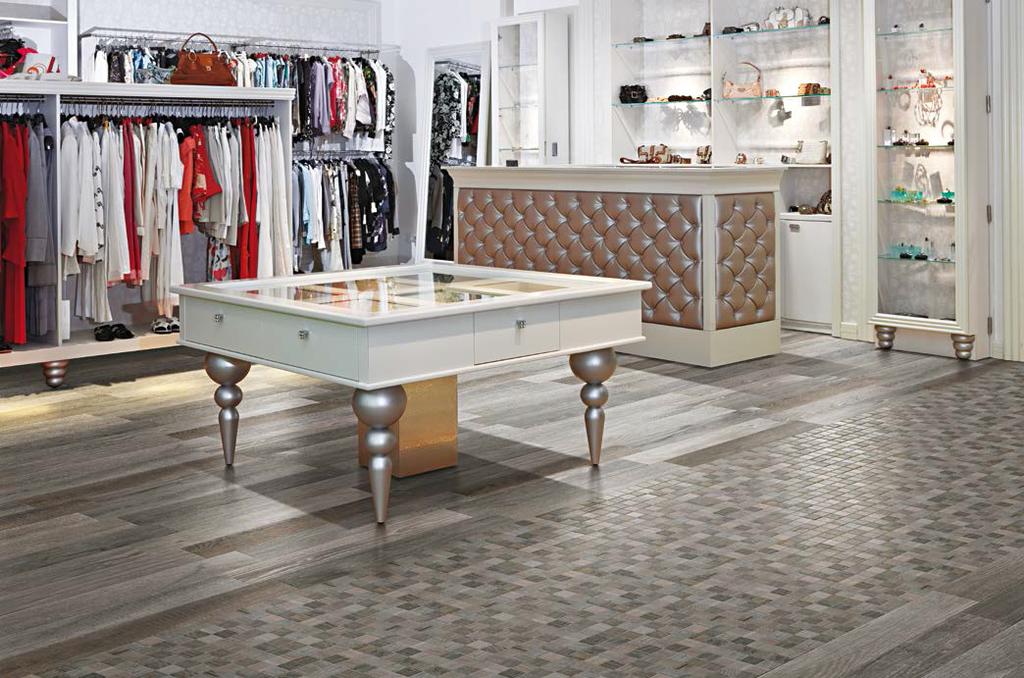 Dlažba dřevěná mozaika Serenissima Wild Wood Grey