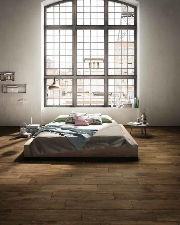 Dlažba imitace dřeva LOŽNICI Castelvetro Woodland Walnuts
