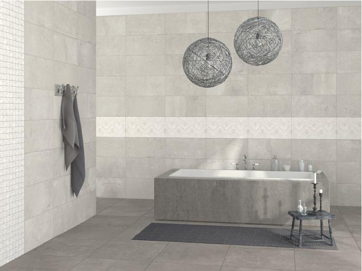 Koupelnové obklady v imitaci betonu Aleluia Ceramic Plaster