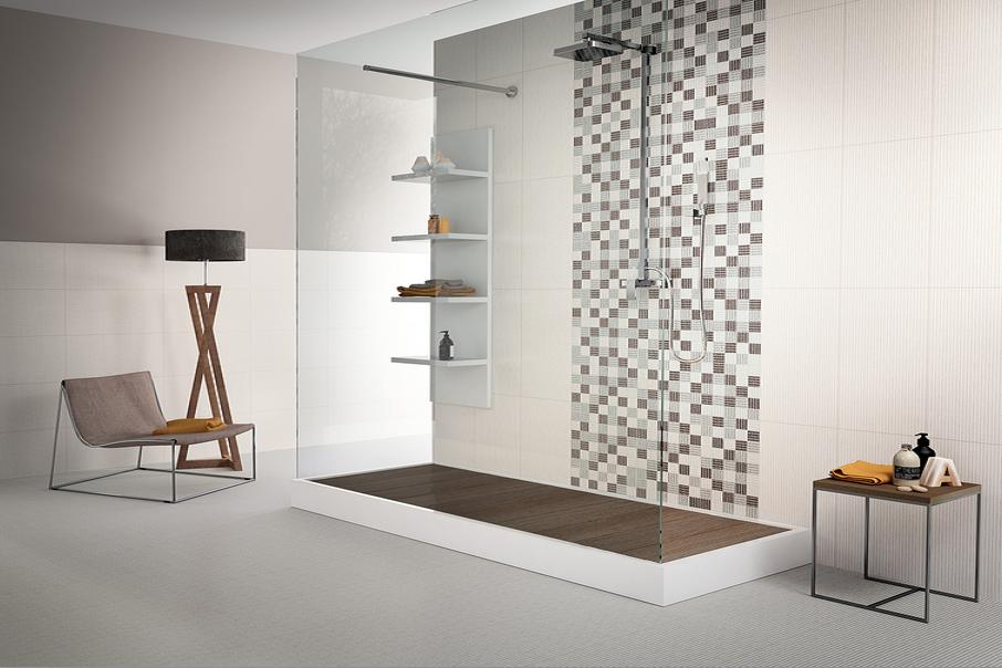 Obklady koupelna mozaika Sichenia Canvas Argento & Perla