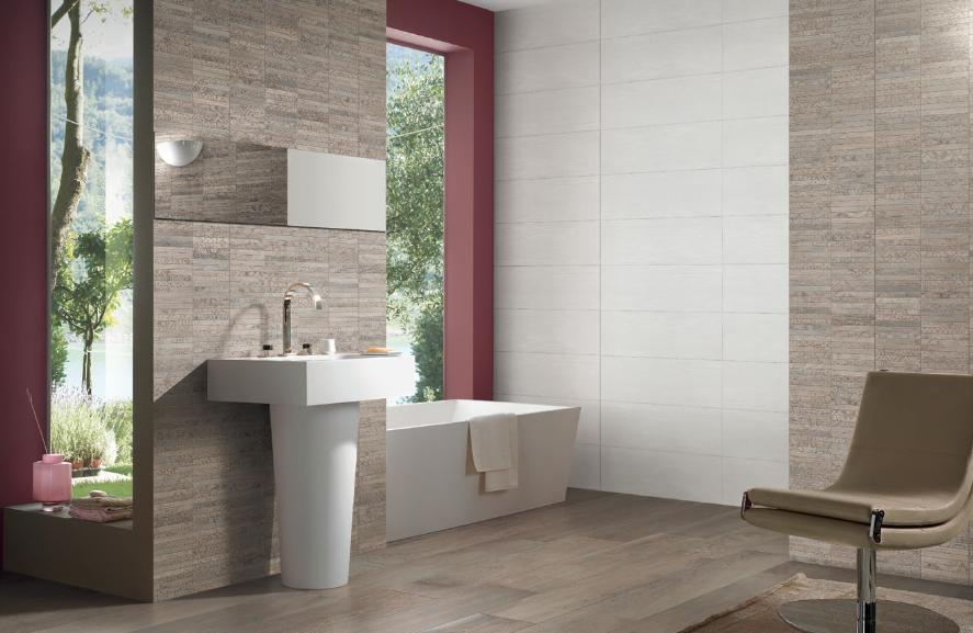 Dřevěný mozaikový obklad do koupelny Sichenia Nordek