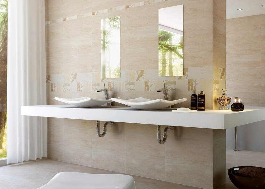 Obklady v imitaci mramoru s moderním dekorem Argenta Daíno Natural