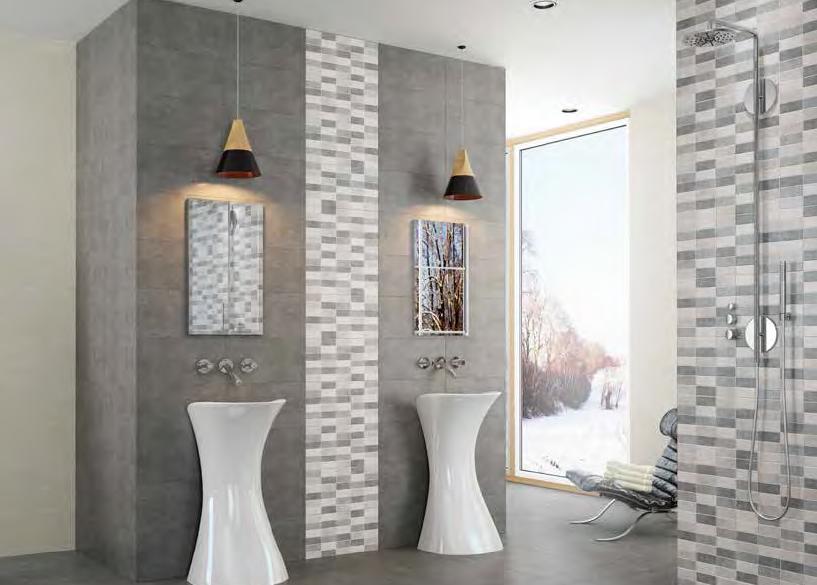 Obklady a dlažba do koupelny v cementových barvách Argenta Micenas