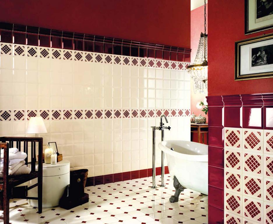 Koupelnové obklady a dlažby Tonalite  Diamante Champagne & Bordeaux