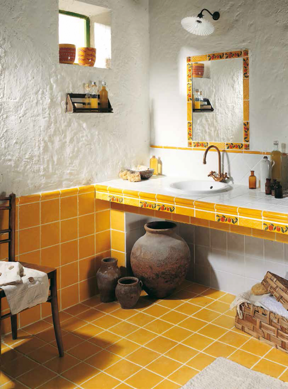 Inspirace koupelna ve stylu provence Tonalite Provenzale Giallo
