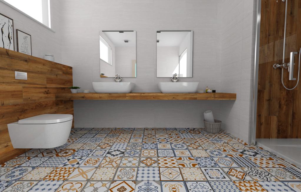 BAREVNÁ koupelna s Azulejos Mijares - Cerlat Goya 22