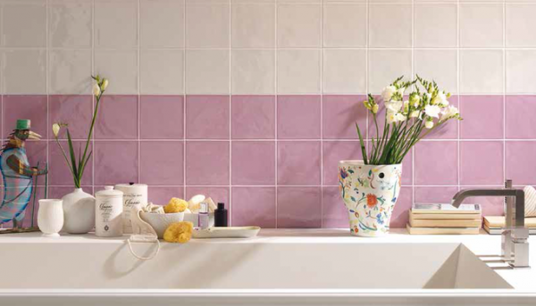 Koupelnové obklady a dlažby Tonalite  Diamante Bianco a Lilla