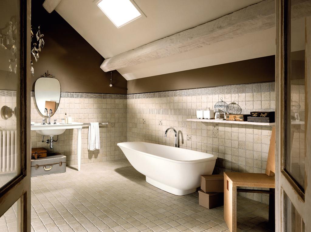 Rustikální obklad koupelny to je Marca Corona Italian Country Bianco