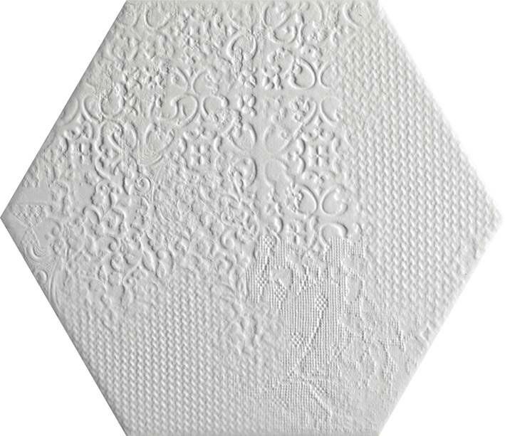 25 White Bathroom Ideas Design Pictures: Bílá šestihranná Dlažba Codicer Milano Hex 25 White